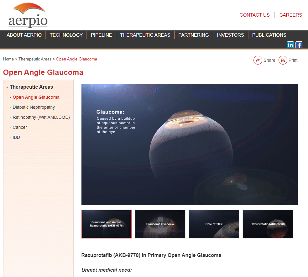 Aerpio Pharmaceuticals biotech website animation