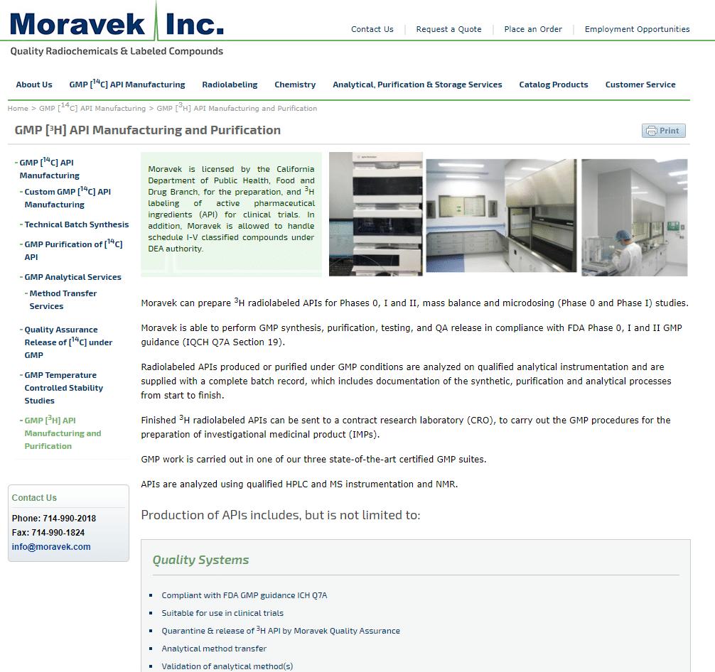 Moravek.com biopharma inner design
