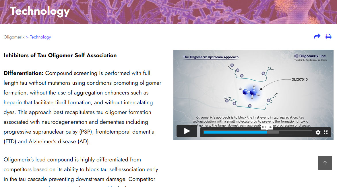 Oligomerix Tablet Website Image