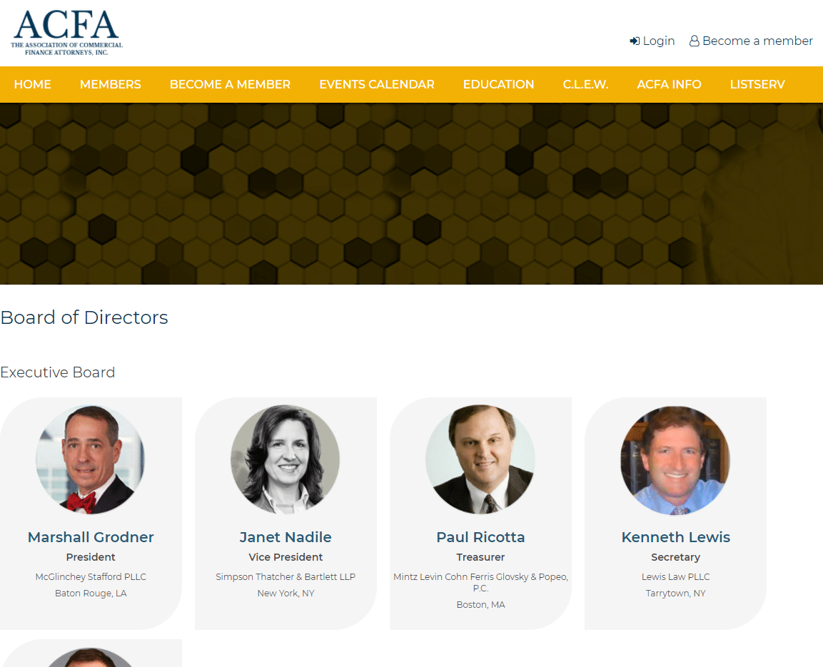 ACFA inner page, Axxiem legal website design