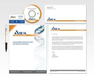 Axxiem branding web design biotech