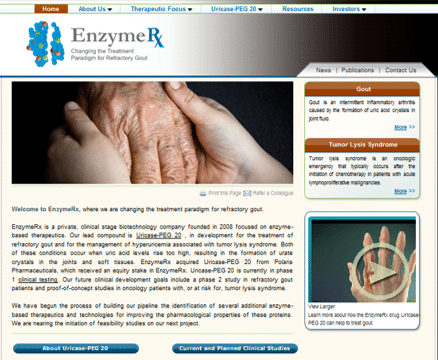 enzymerx axxiem biotech website design uricase