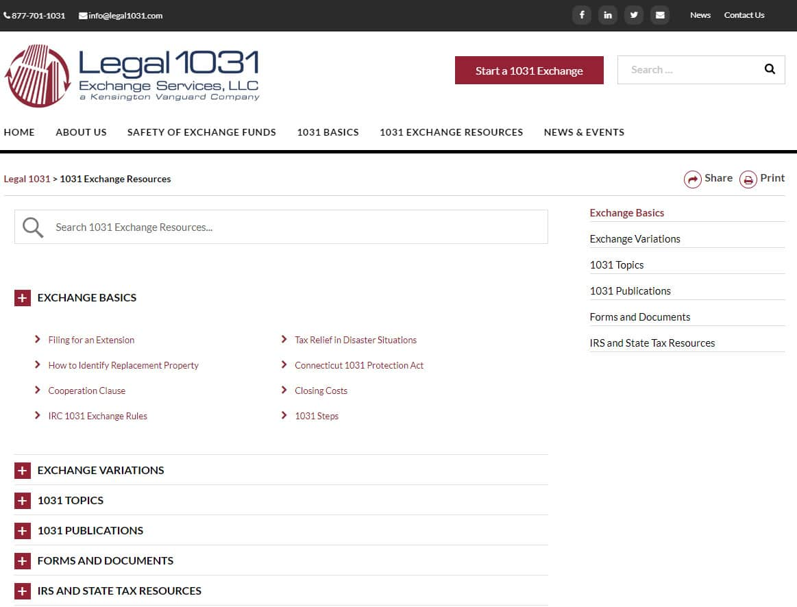 legal1031 new resources