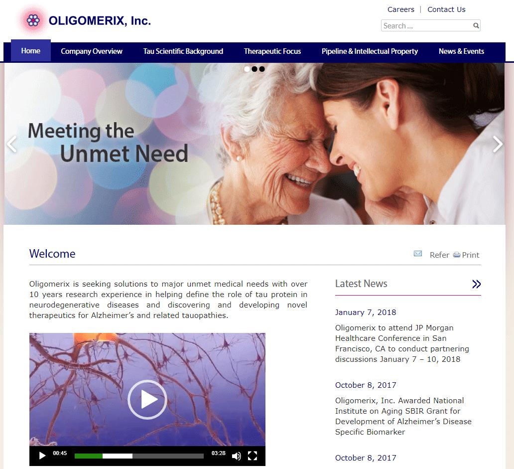 Oligomerix axxiem biotech webdesign
