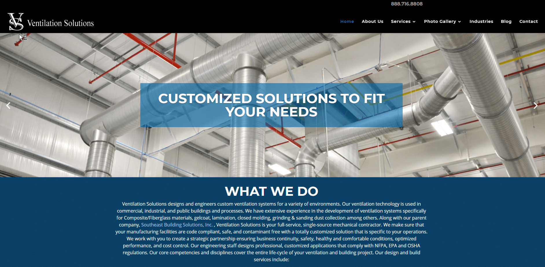 ventilation solutions construction website new york