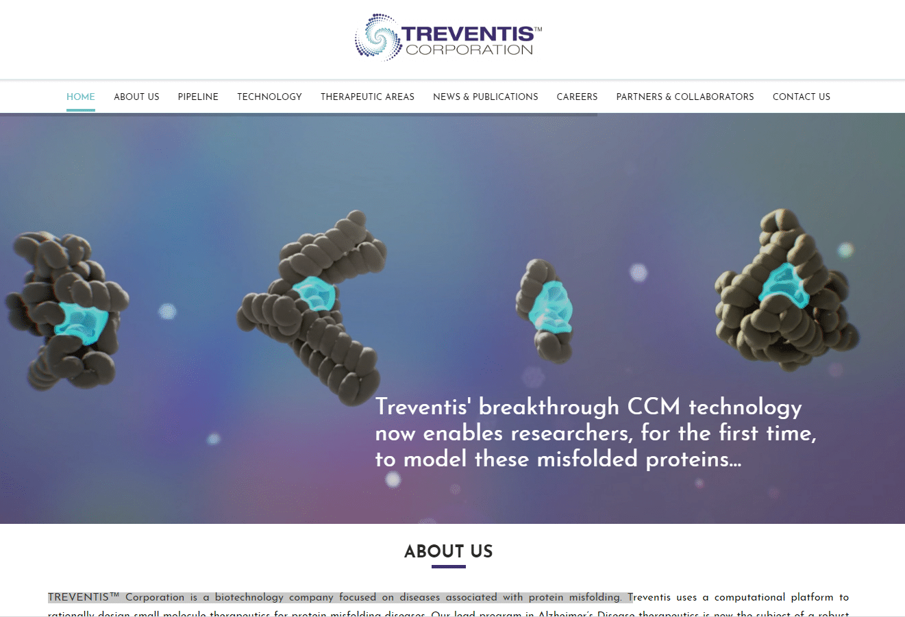 Treventis Corporaton biotech company