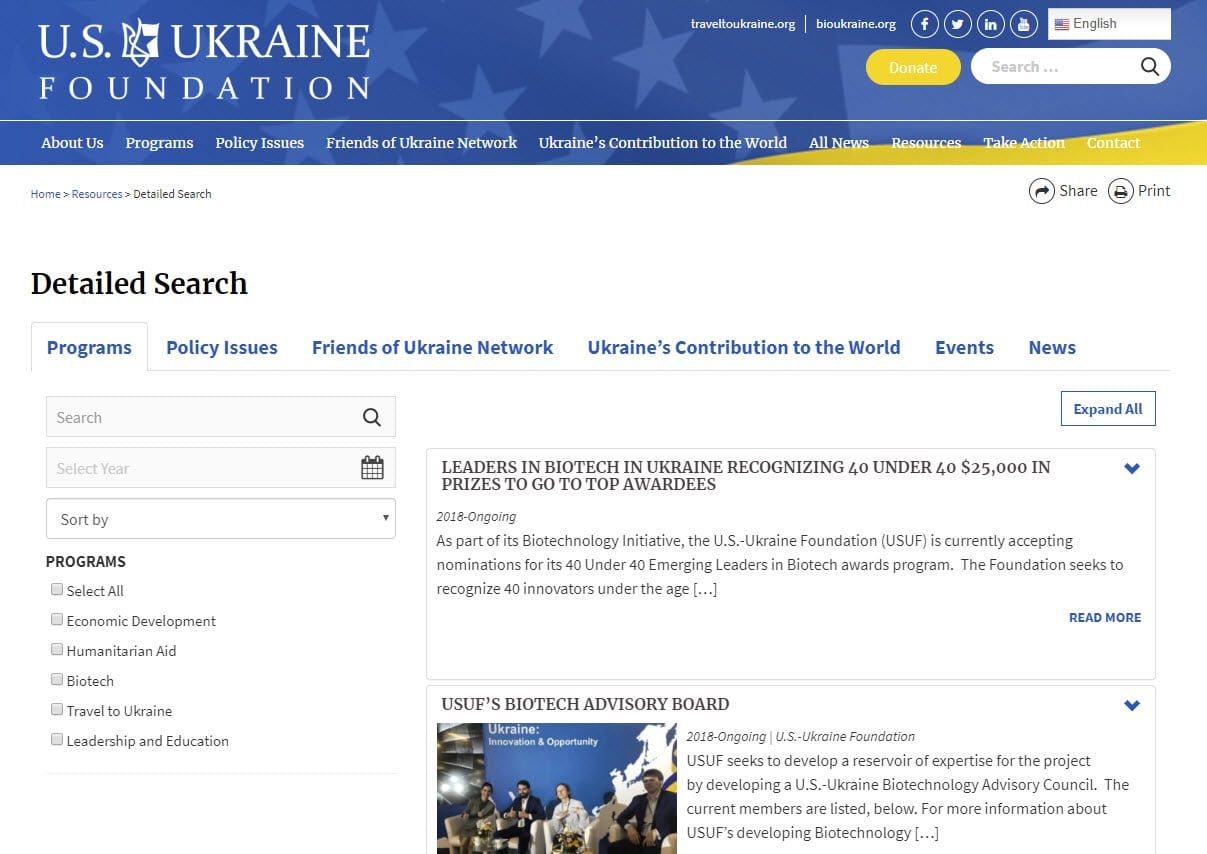 US-Ukraine Detailed Search