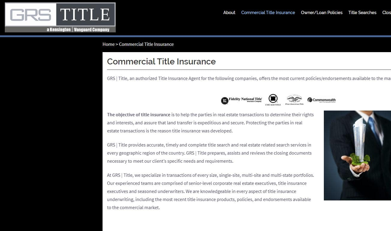 GRS-Title company website design