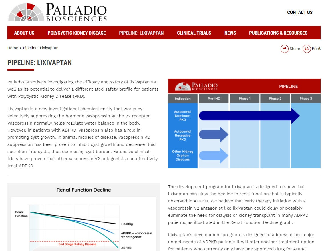 Palladio Biosciences biotech website design