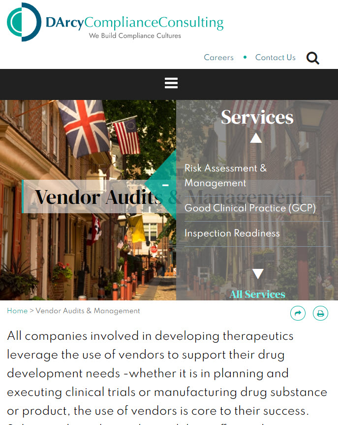 DArcy Compliance Consulting Mobile Image